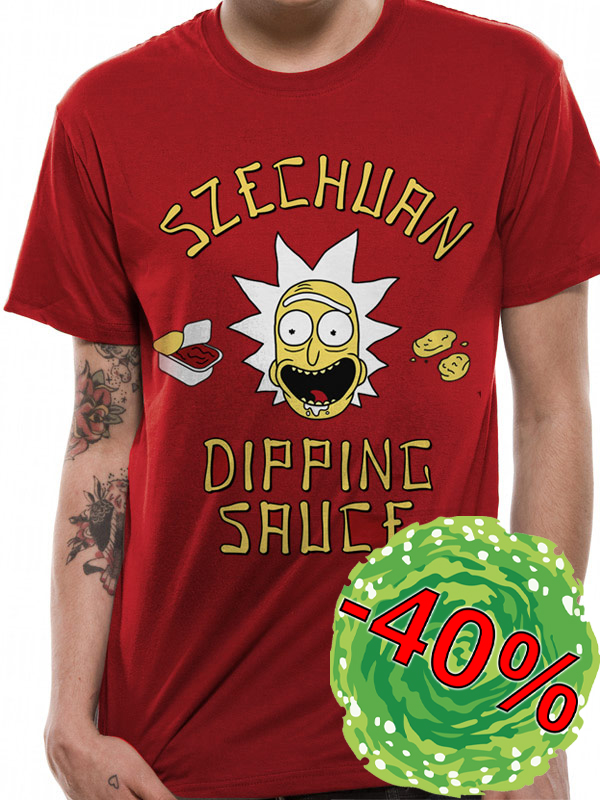 Tričko Rick and Morty Szechuan Sauce