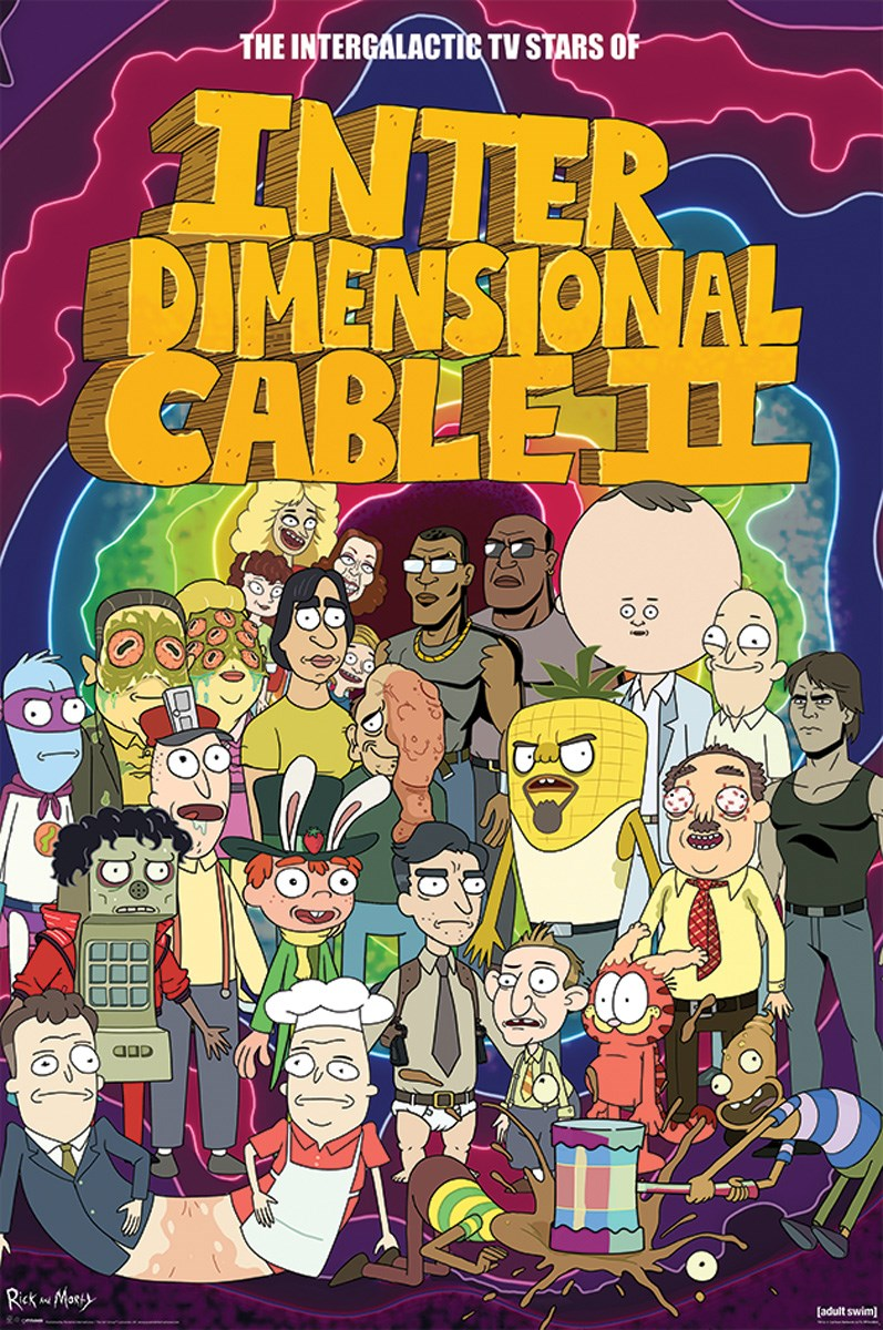 Plakát Rick a Morty Stars of Interdimensional Cable