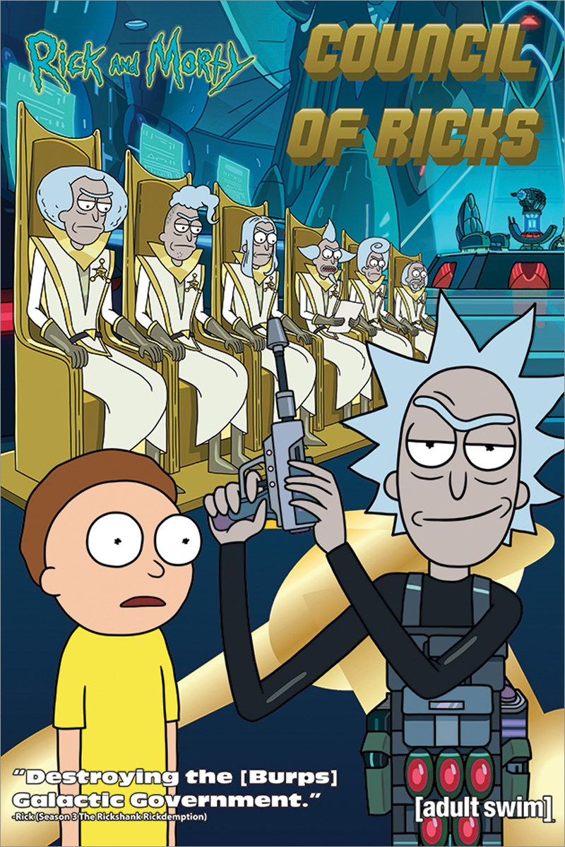 Plakát Rick a Morty Council Of Ricks