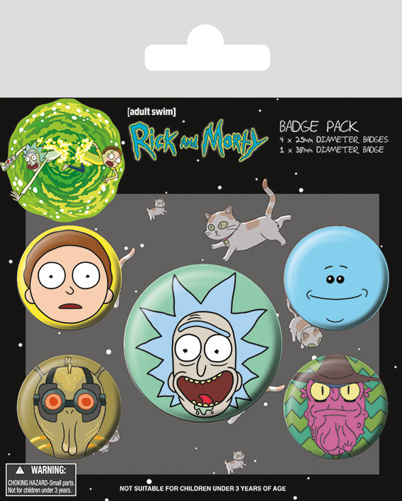 Placky Rick a Morty Heads