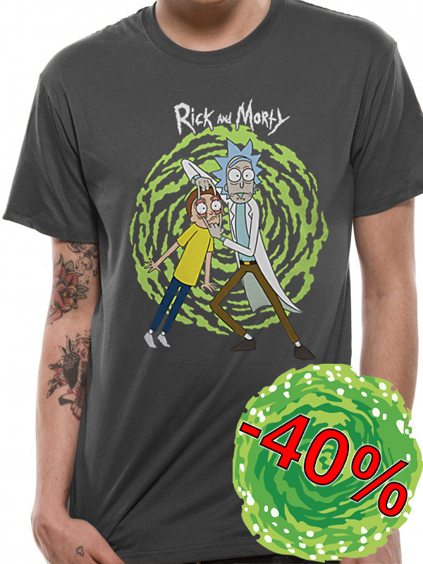 Tričko Rick and Morty Spiral