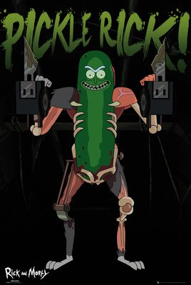 Plakát Rick a Morty Pickle Rick
