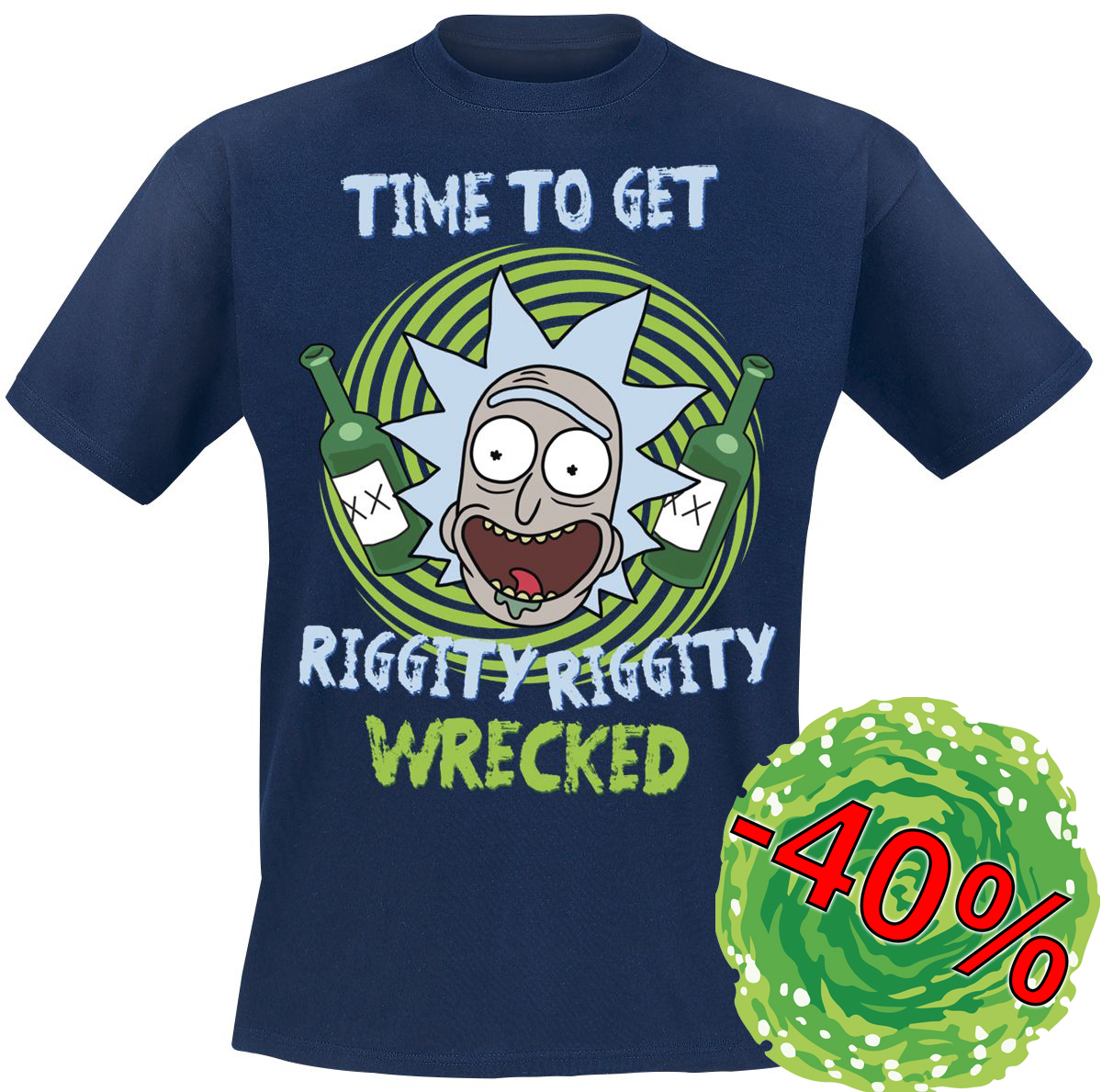 Tričko Rick and Morty Riggity Riggity Wrecked