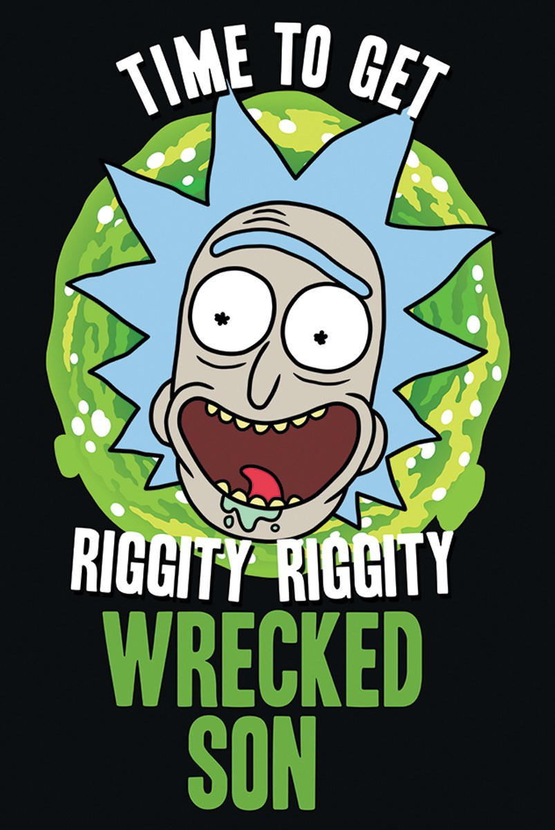 Plakát Rick a Morty Wrecked Son